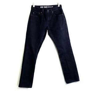 FREE WORLD ZUMIEZ • Night Train Black Denim Jeans